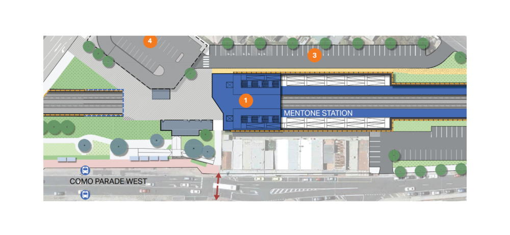 Mentone Train Station Plan