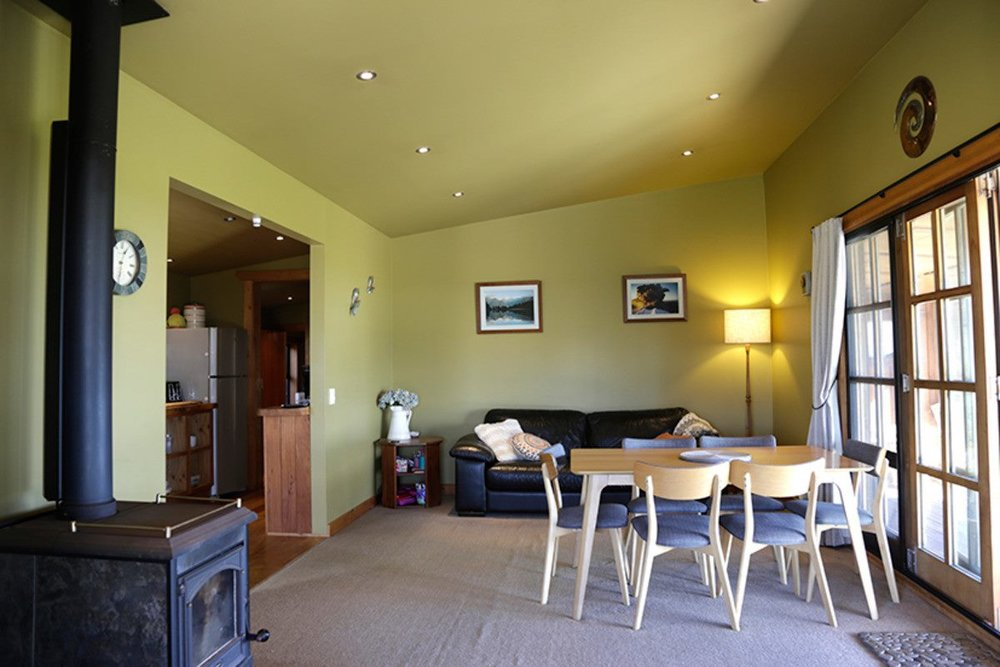 The kitchen/ dining area is open plan, and ideal for entertaining. There is a seperate living area.