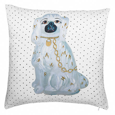 Staffordshire dog pillow.product