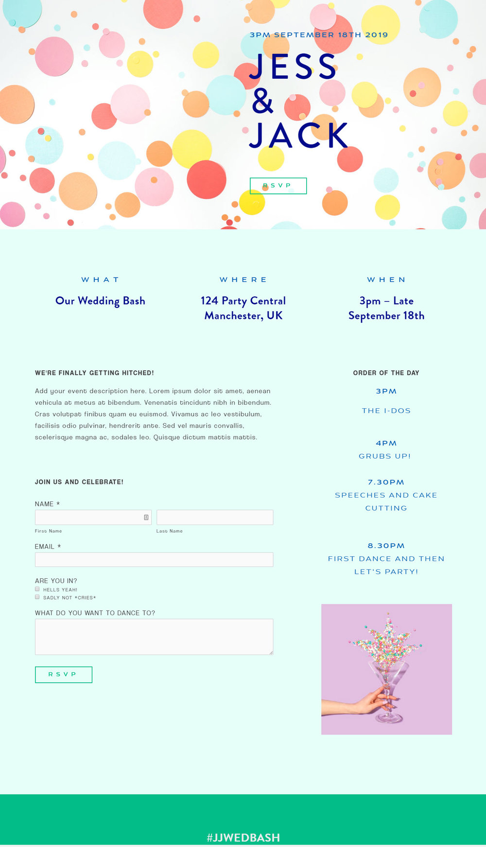 Custom Wedding Party Paperless Invites