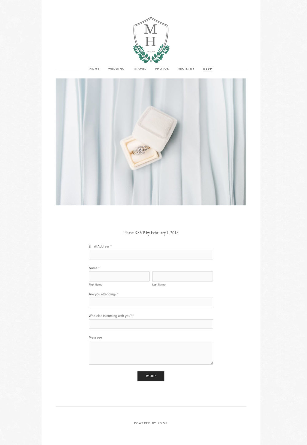 Custom Guest RSVP Website