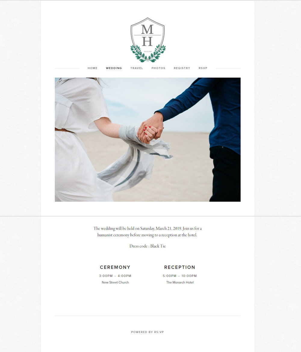 Custom Elegant Guest Website