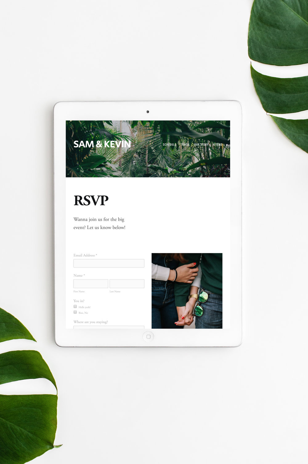 Custom Responsive Wedding Website