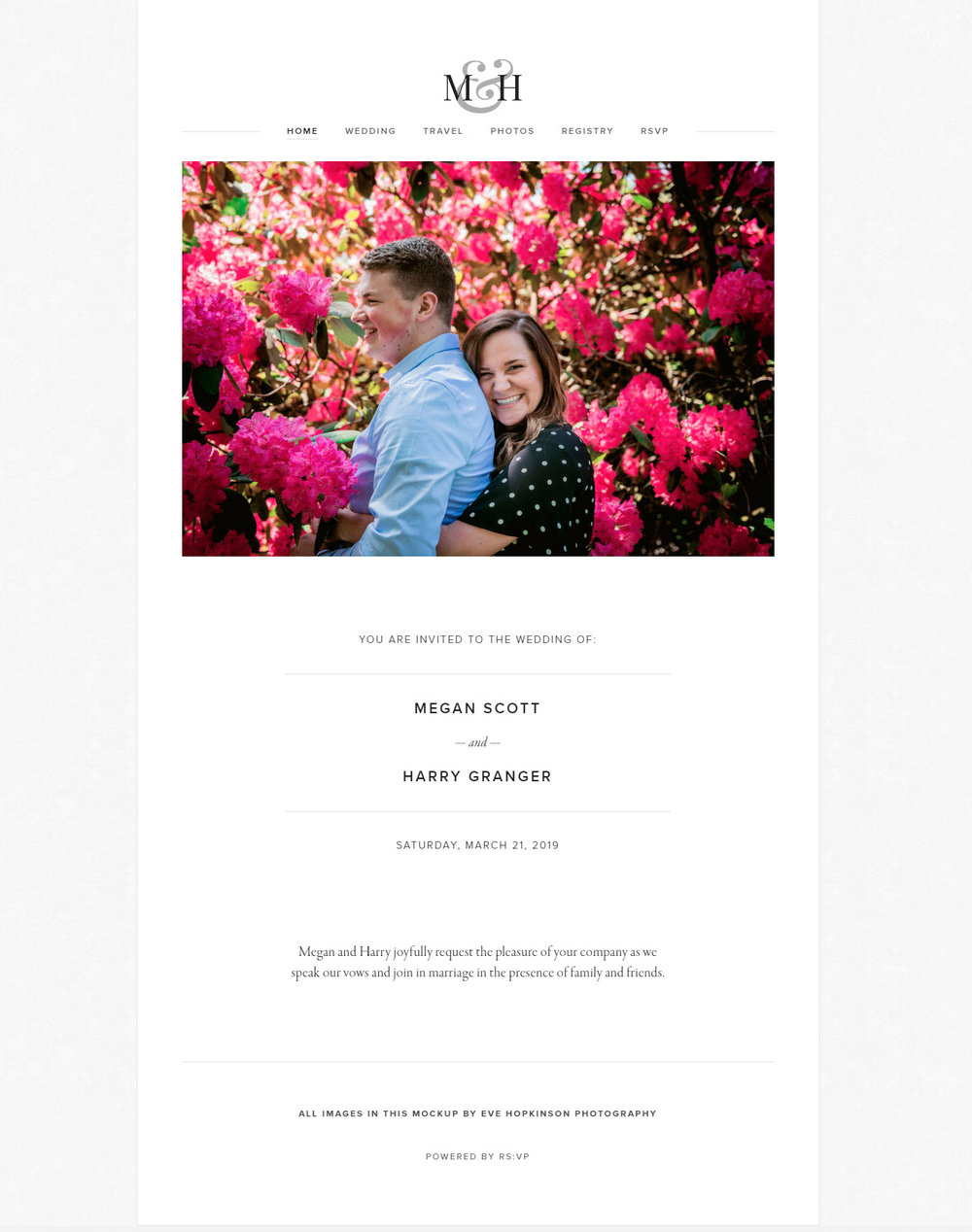Custom Website Eve Hopkinson Photography