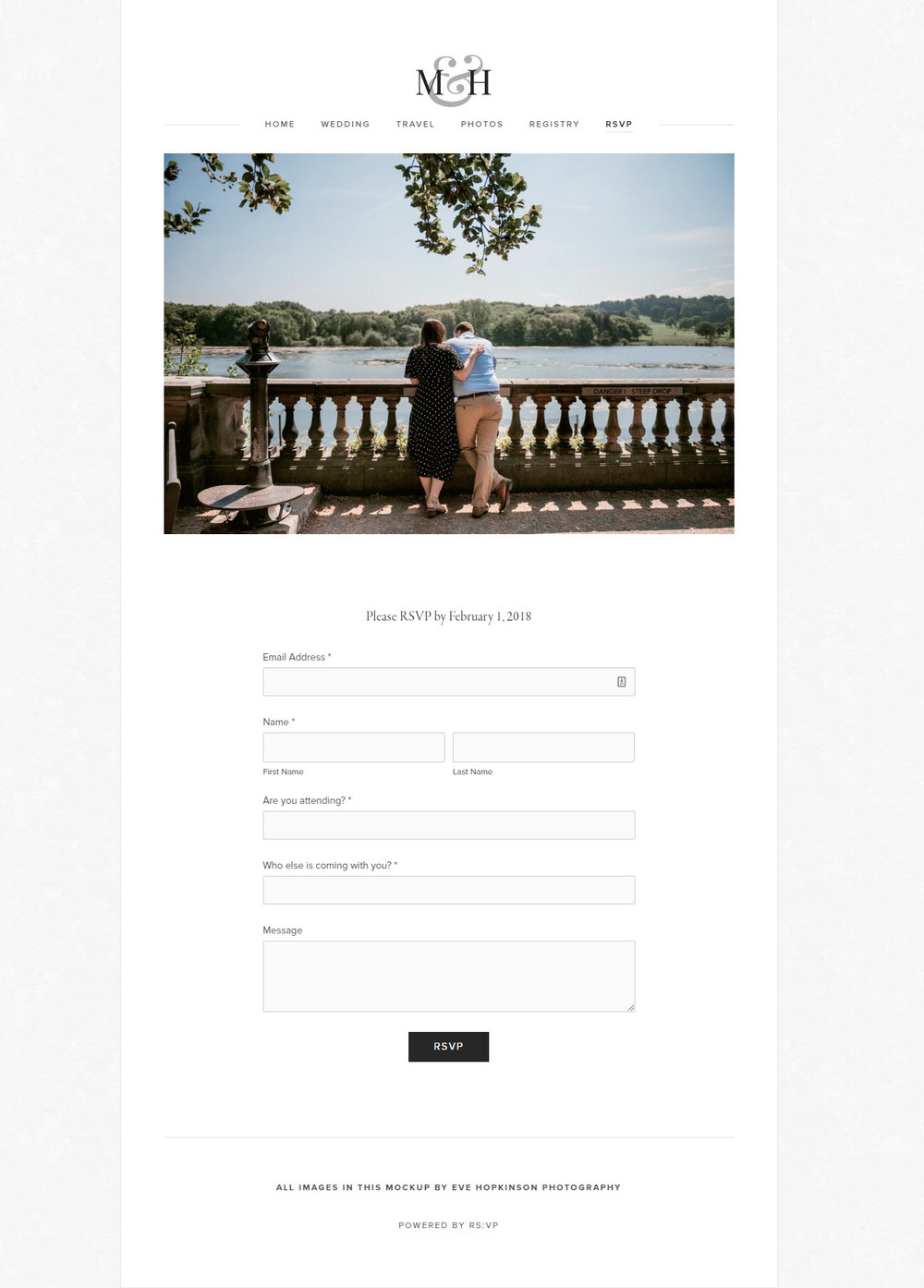 Custom RSVP Wedding Guest Website