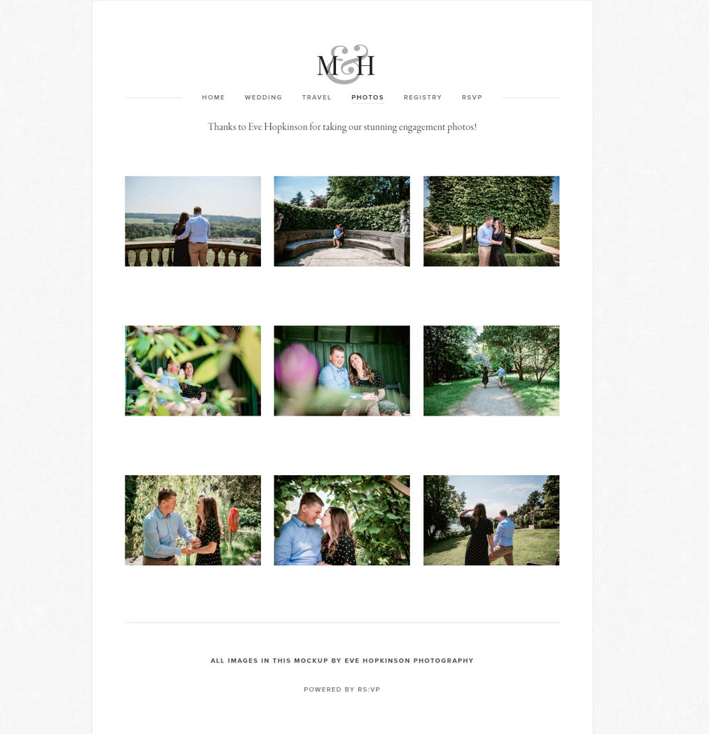Custom Website Gallery Eve Hopkinson Photography