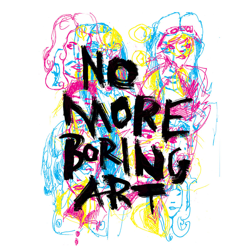no more boring art by dave conrey