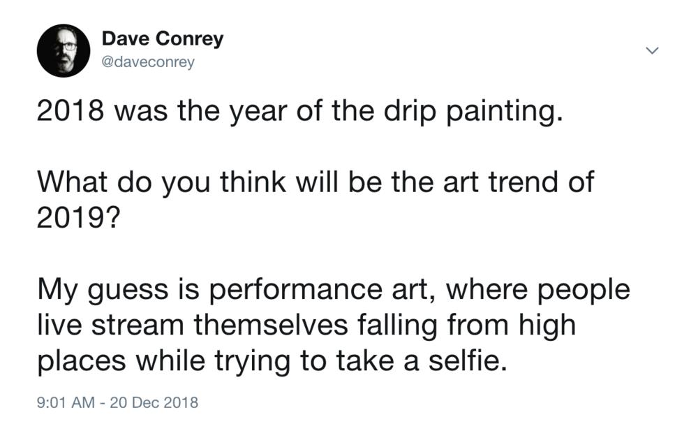 tweet by dave conrey on December 20, 2018