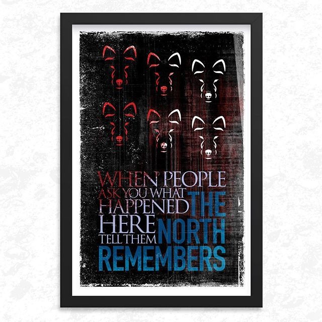 Question: who will be the first to die in Season 8? Put your guess in the comments.  Totally taking the timely opportunity to celebrate the long overdue arrival of Game of Thrones, season 8.  You know where I'll be parked on Sunday evening.  #thenorthremembers #gameofthrones #gameofthronesquotes #aryastark #sansastark #cerseilannister #tyrionlannister #jamielannister #whitewalkers #winterfell #winterishere #winteriscoming #georgerrmartin #johnsnow #waitingonsunday #posterdesigns #posterdesigner #daveconrey