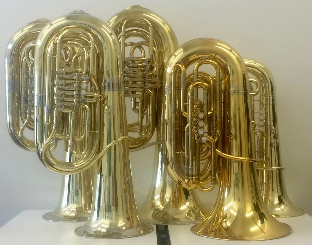 Petter´s personal tuba collection