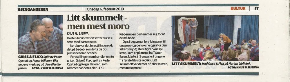 På turné for Teater. Ibsen (2019).