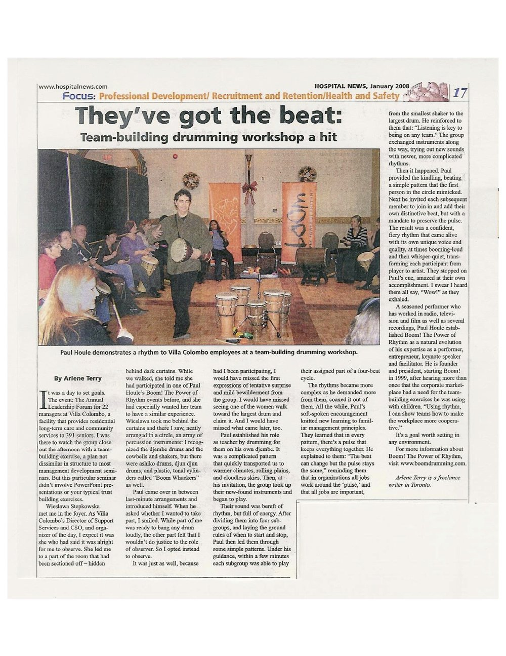 Boom! The Power of Rhythm - Paul Houle - They've Got the Beat - Hospital News copy.jpg