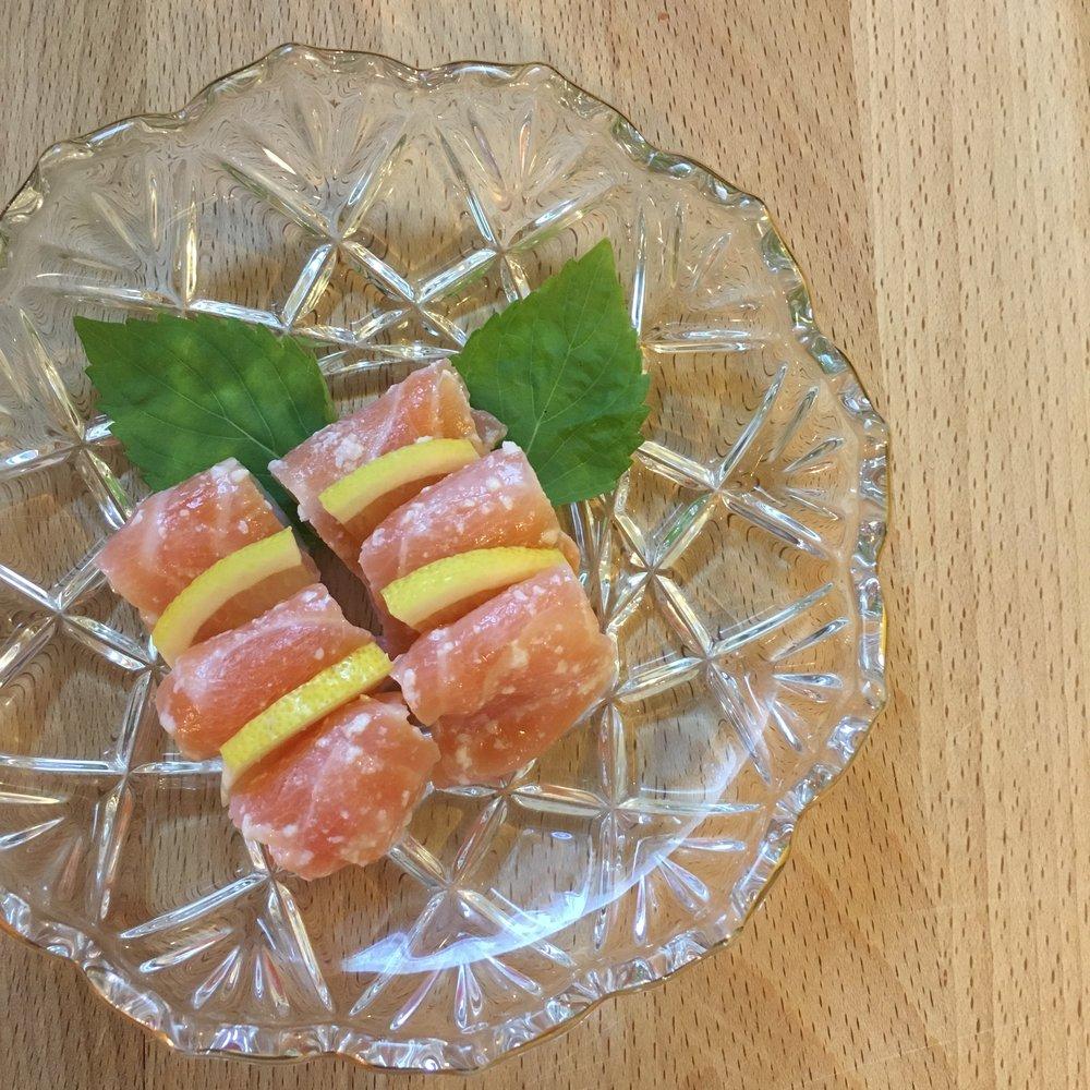 Salmon Sashimi with Shio Koji -