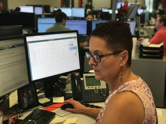 Krys Crawford, Claims Manager at XPO Logistics - Gainesville uses reach to optimize communication among her team members and trailer repair vendors.