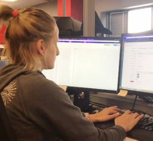 Cassi Walker, Logistics Coordinator, communicates with repair vendors and equipment providers directly through REACH to replace many emails and phone calls.