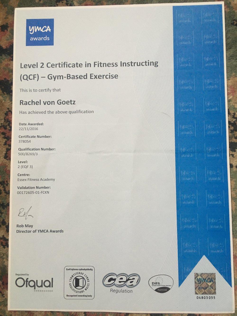 Gym Instructor 2016