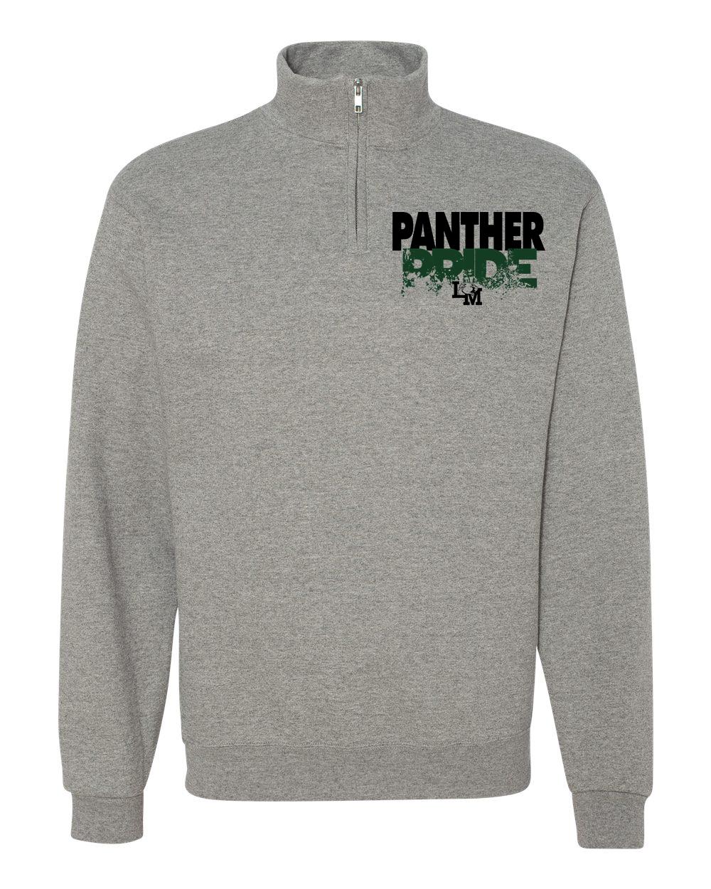 a2b76b89e LM Panther Pride 1/4-Zip Sweatshirt No Hood — Spirited by Design