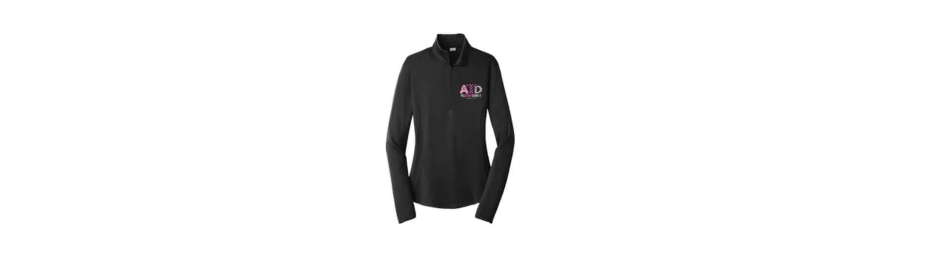 5e4ece534f198 ATD Polka Dot Chevron 1/4 Zip Fitness Jacket — Spirited by Design