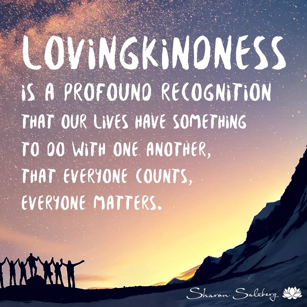 @SharonSalzberg #RealHappinessChallenge Day 25: Lovingkindness Toward Others