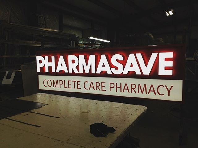 Pharmasave: Halo-lit channel letters
