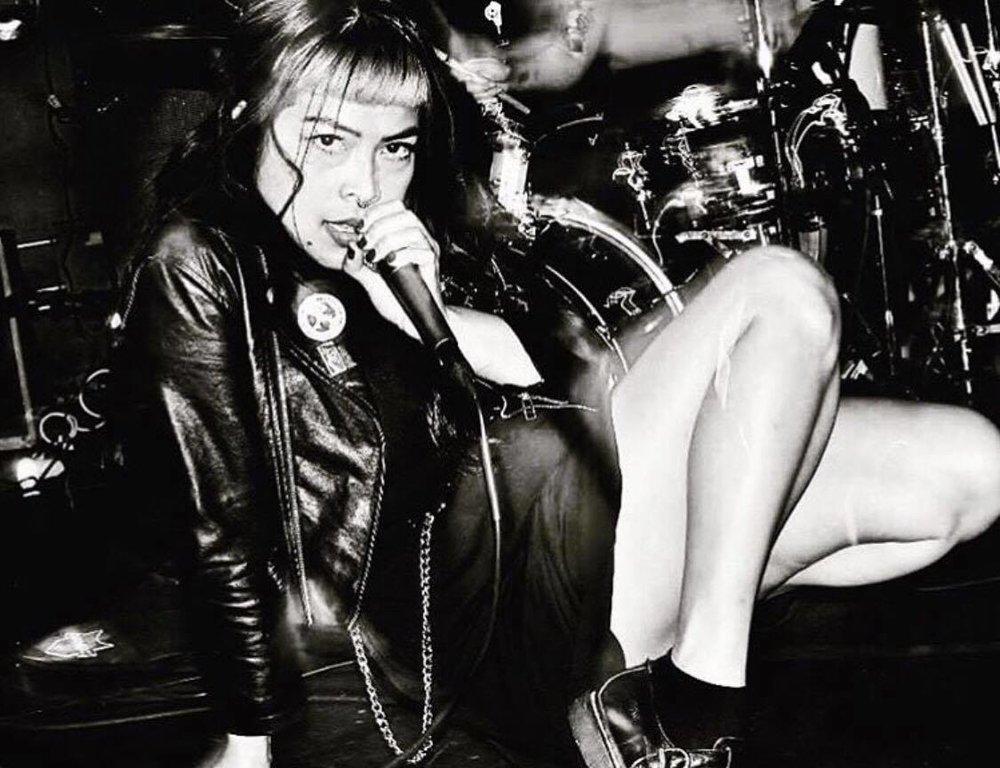 Kristine Nevrose of  The Tissues, Post-Punk   Photo by Deb Frazin