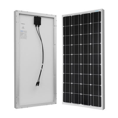 We have two of these  100w Renogy solar panels  mounted on our roof. They plug in seamlessly to our Goal Zero Yeti 1400.