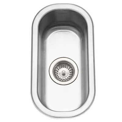 People often ask why we have such a small  sink . It saves space and keeps us from leaving too many dishes undone!