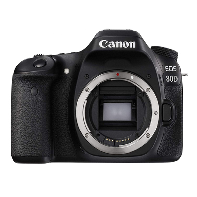 This is a perfect universal DSLR. We use our  Canon 80d  for crispy pictures and beautiful footage. Weather resistant and durable!
