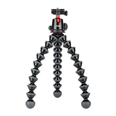 This  Joby  is what we mount our camera to when vlogging - it works great for both our DSLR and point-and-shoot!