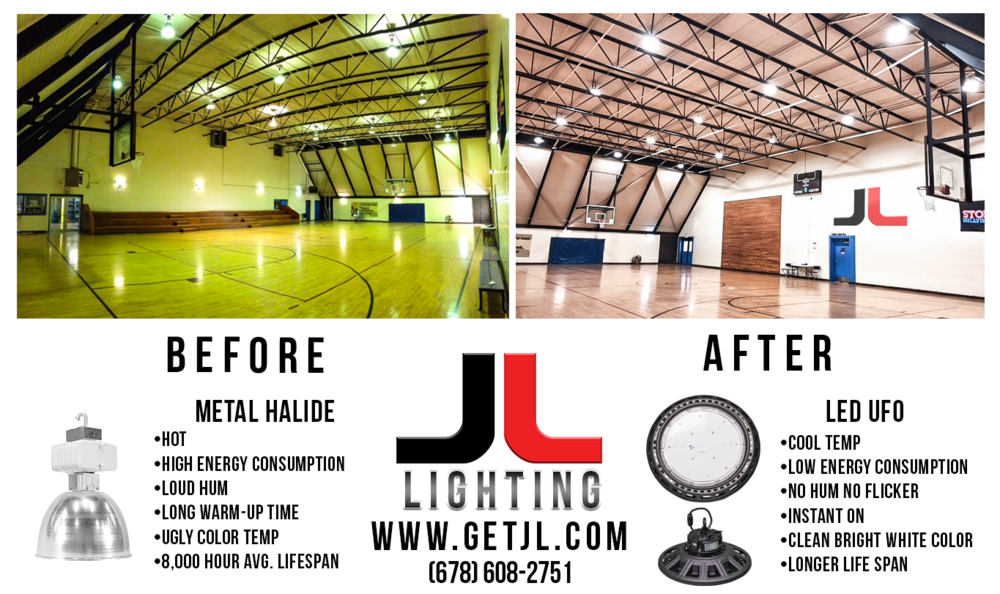 Metal Halide Replacement High Bay UFO LED Lights by JL Lighting