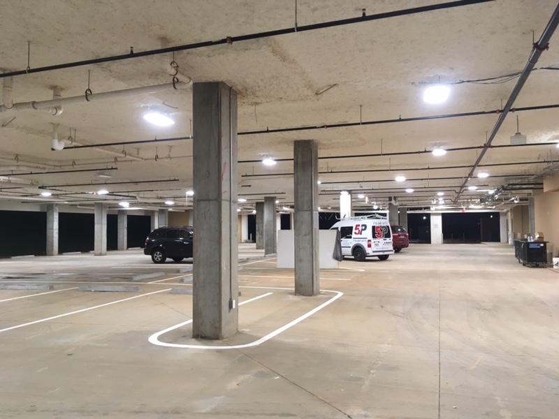 LED Parking Garage Lights LED Canopy Lights for Parking Deck by JL Lighting