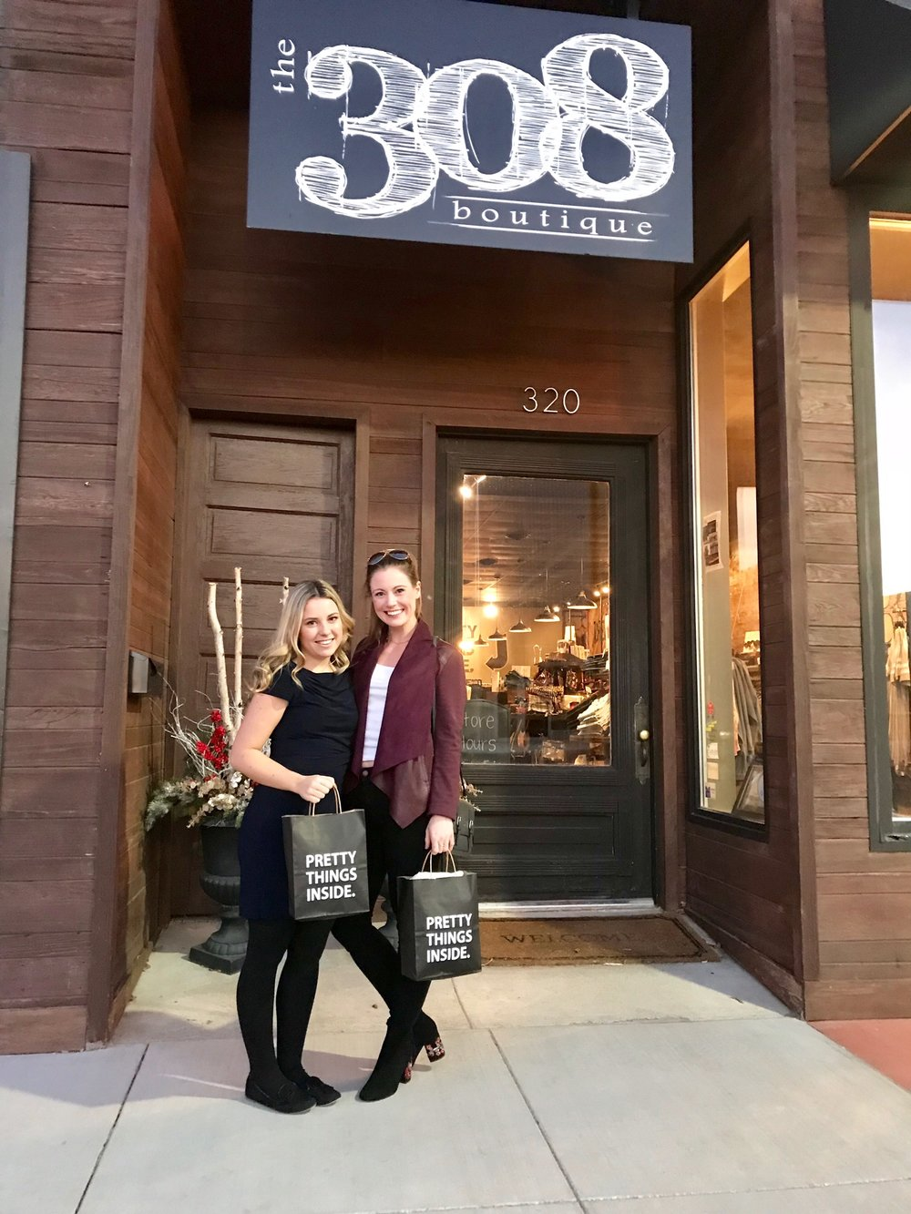 - For the Emerging Designer Showcase, Lauren and I were styled by The 308 Boutique in Holdrege, Nebraska.The owner, Erin Sandy opened the store, giving us a one-on-one personal shopping experience.