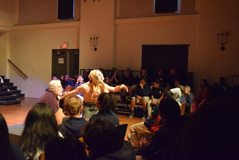 Humor for all ages - Middle school students enjoying a particularly absurd moment in King Lear.