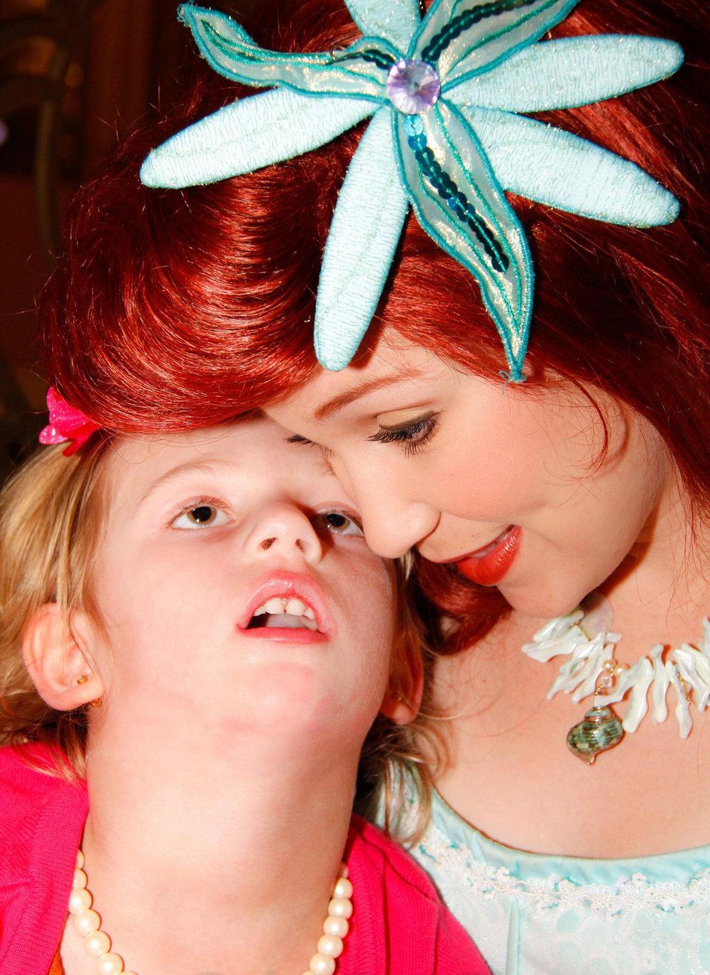 Meet Mackenzie - A priceless princess makeover and dream come true.