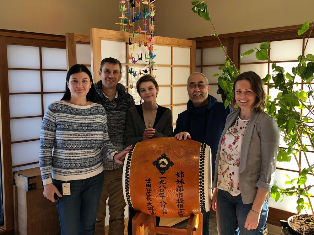 Pictured:  Dream Kid  Daria  along with her family, Dream Coordinator Shannon, and Ken Teramura of the Japanese Cultural Association