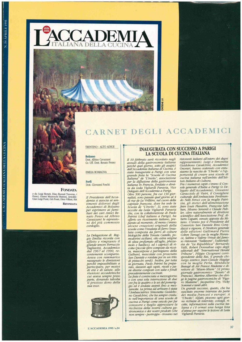 Pubblicazione Originale - L'ACCADEMIA 1995 / n.54