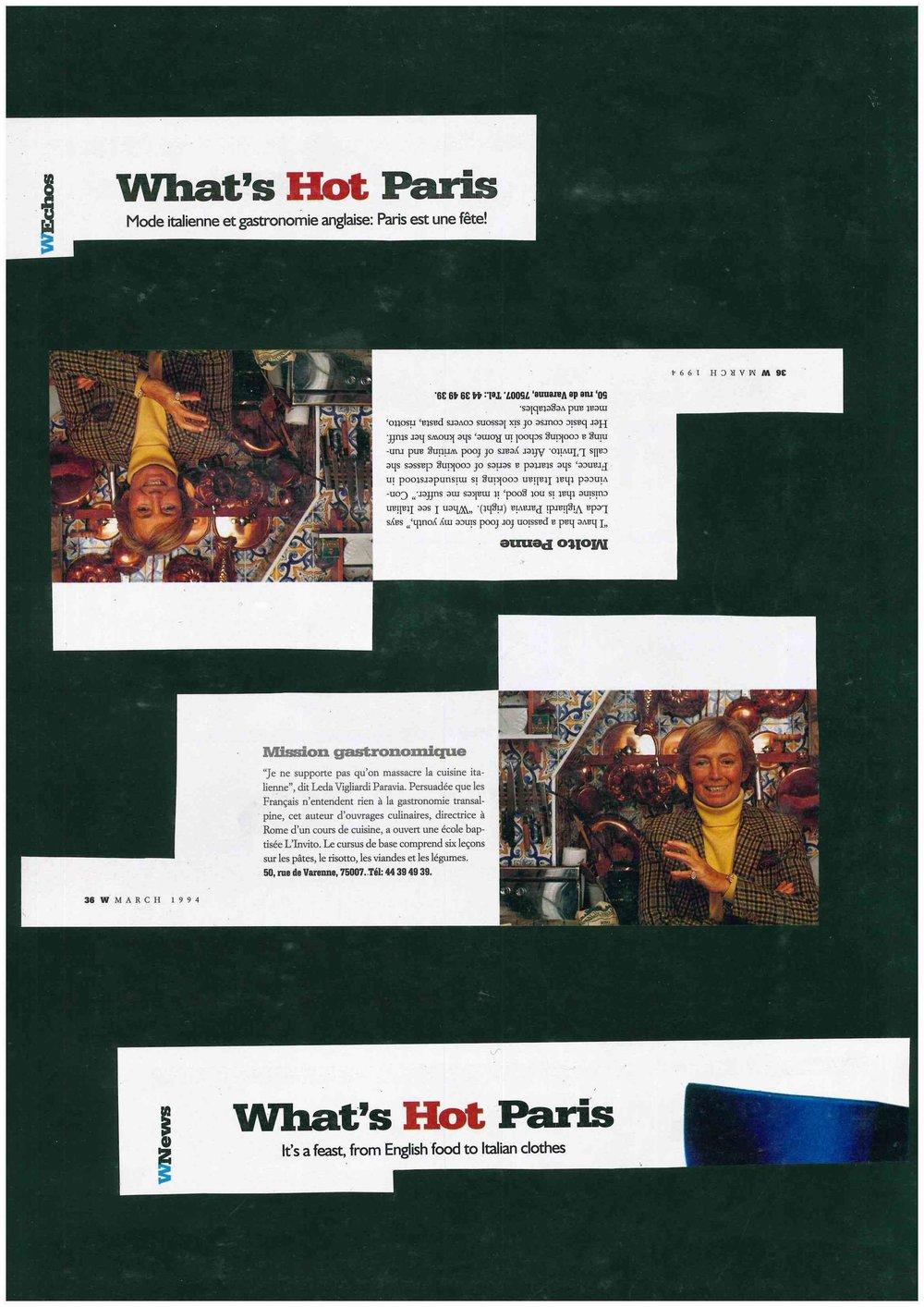 Pubblicazione Originale - WNews - What's Hot in Paris - March 1994