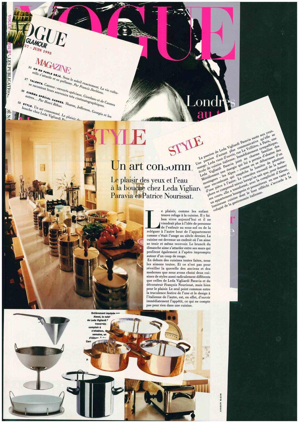 Pubblicazione Originale - Vogue FR - Glamour - June 1995