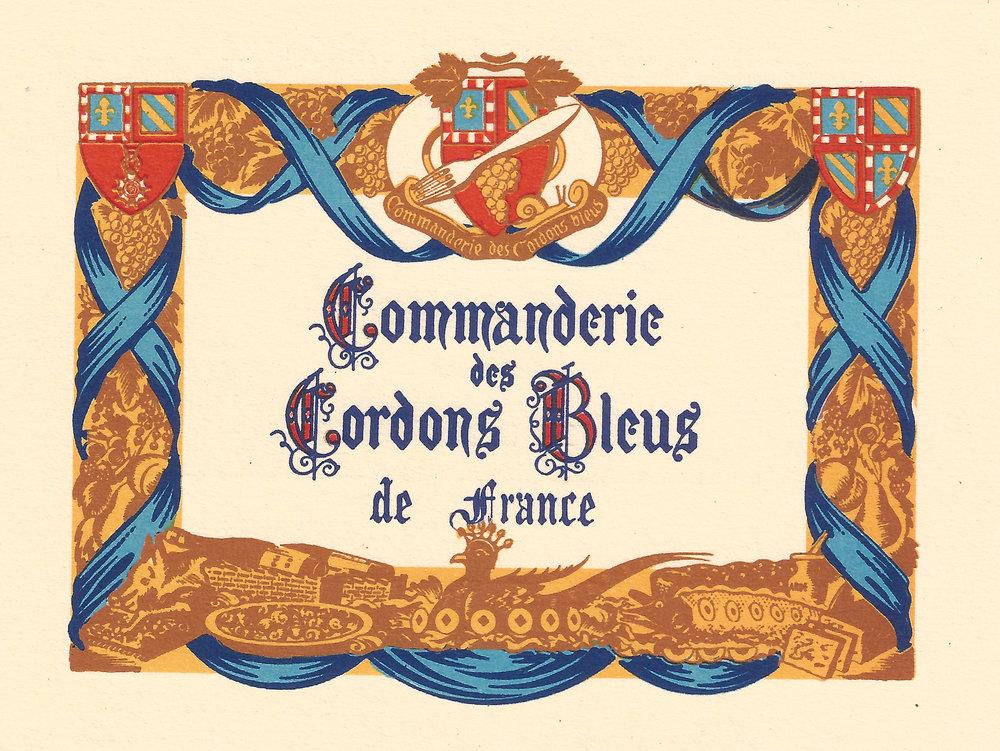 Commandeur des cordons bleus