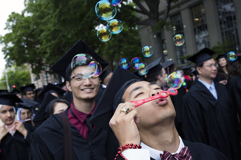 1,076 undergraduates and 1,780 graduate students received their diplomas at  MIT's 2016 Commencement  ceremony in Killian Court.
