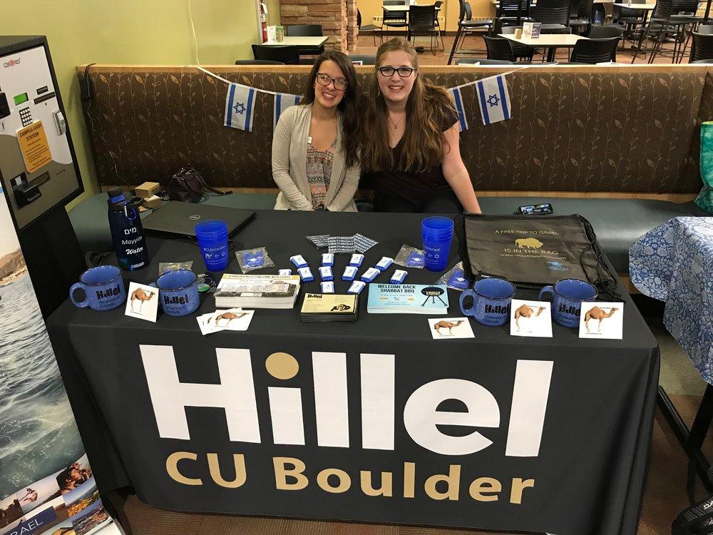 CU Boulder Hillel Tabling.jpg