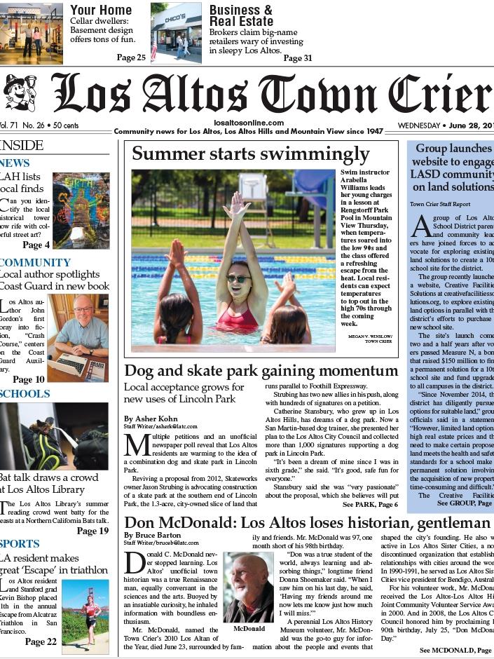 LOS ALTOS TOWN CRIER