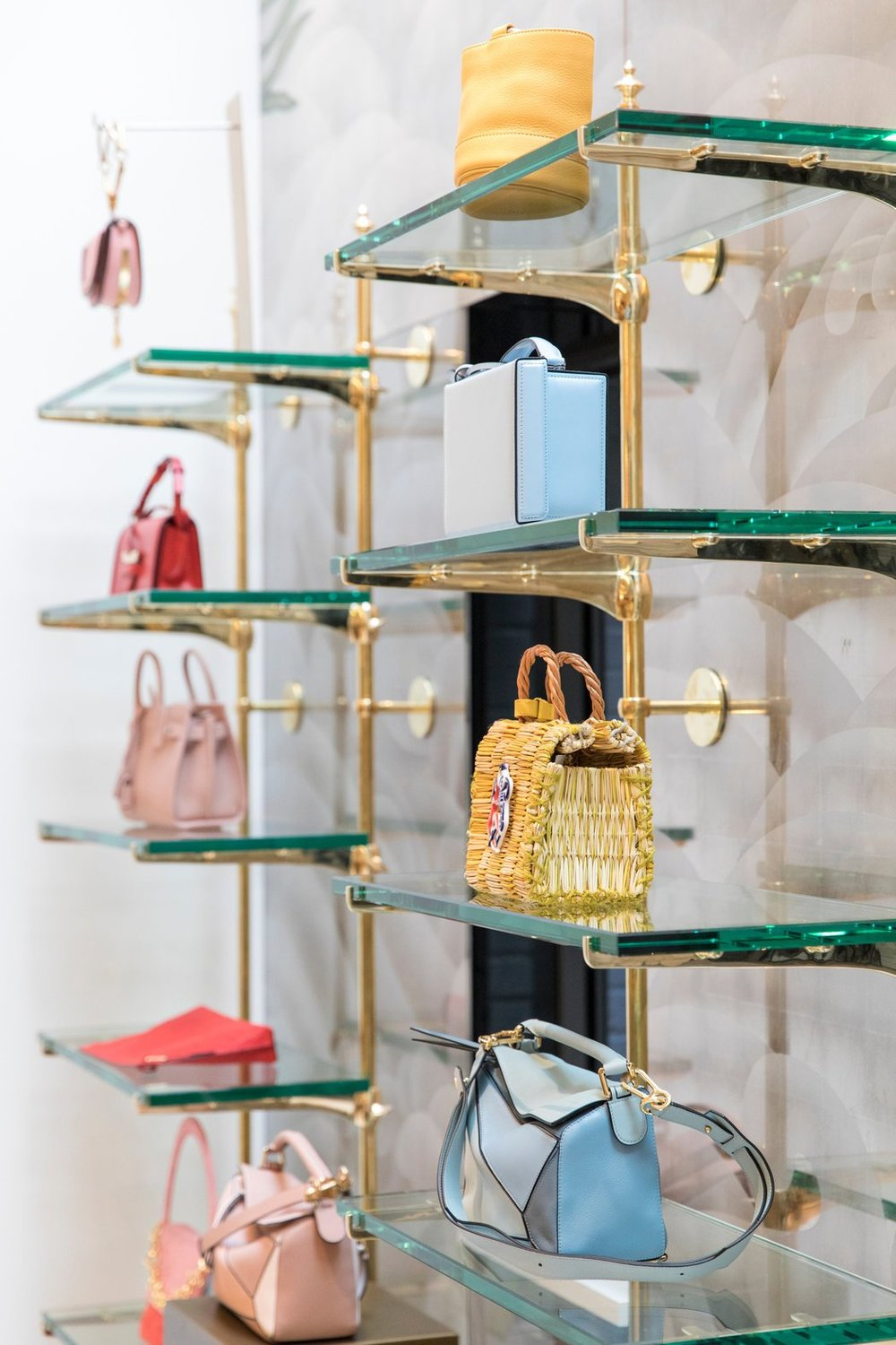 Handbags, on the first floor. CreditStefania Curto for The New York Times