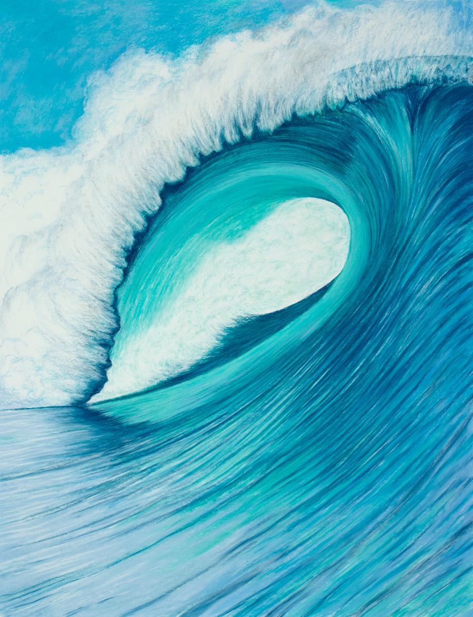 "Aquatic Energy #3 Pastel, 38"" X 50"""