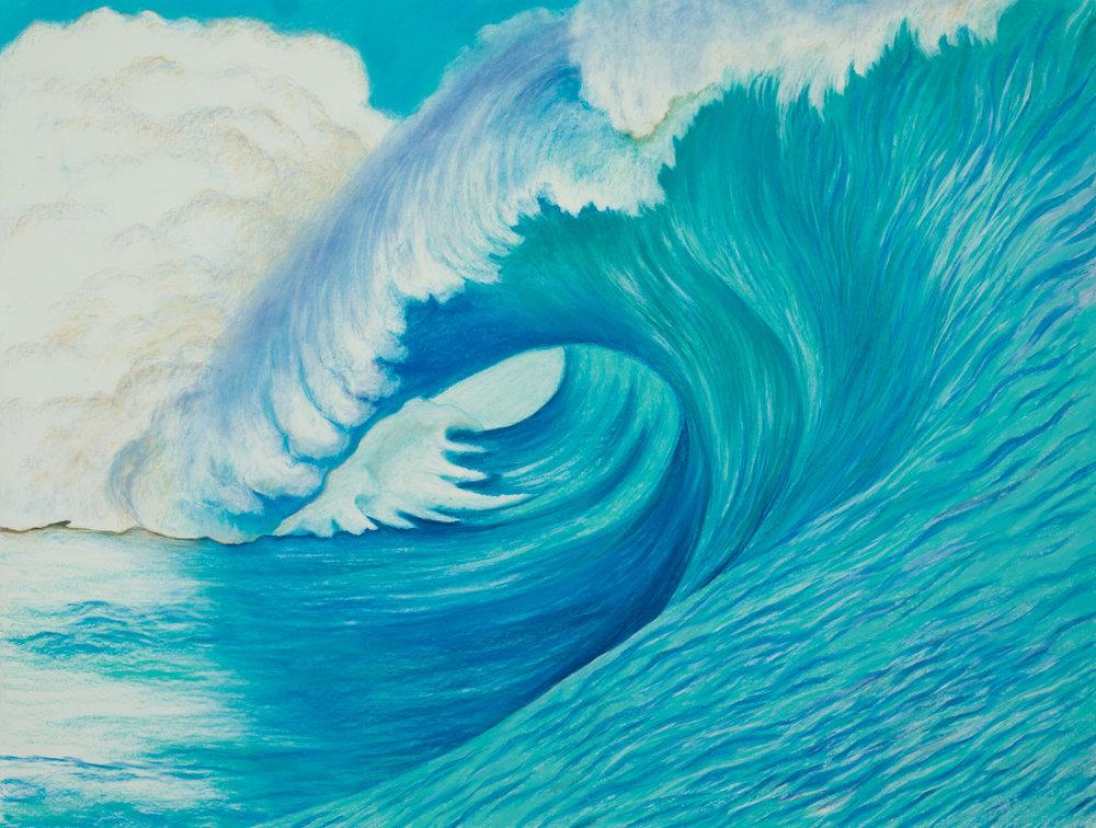 "Aquatic Energy #4 ( SOLD ) Pastel, 38"" X 50"""