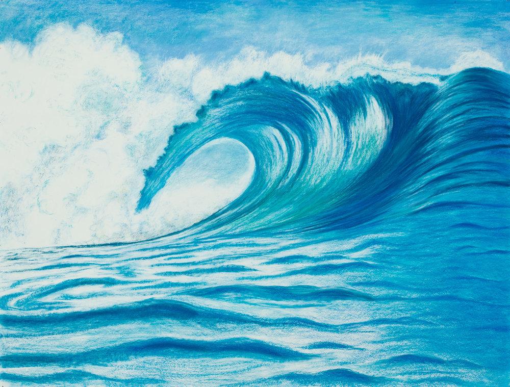 "Aquatic Energy #6 Pastel, 38"" X 50"""