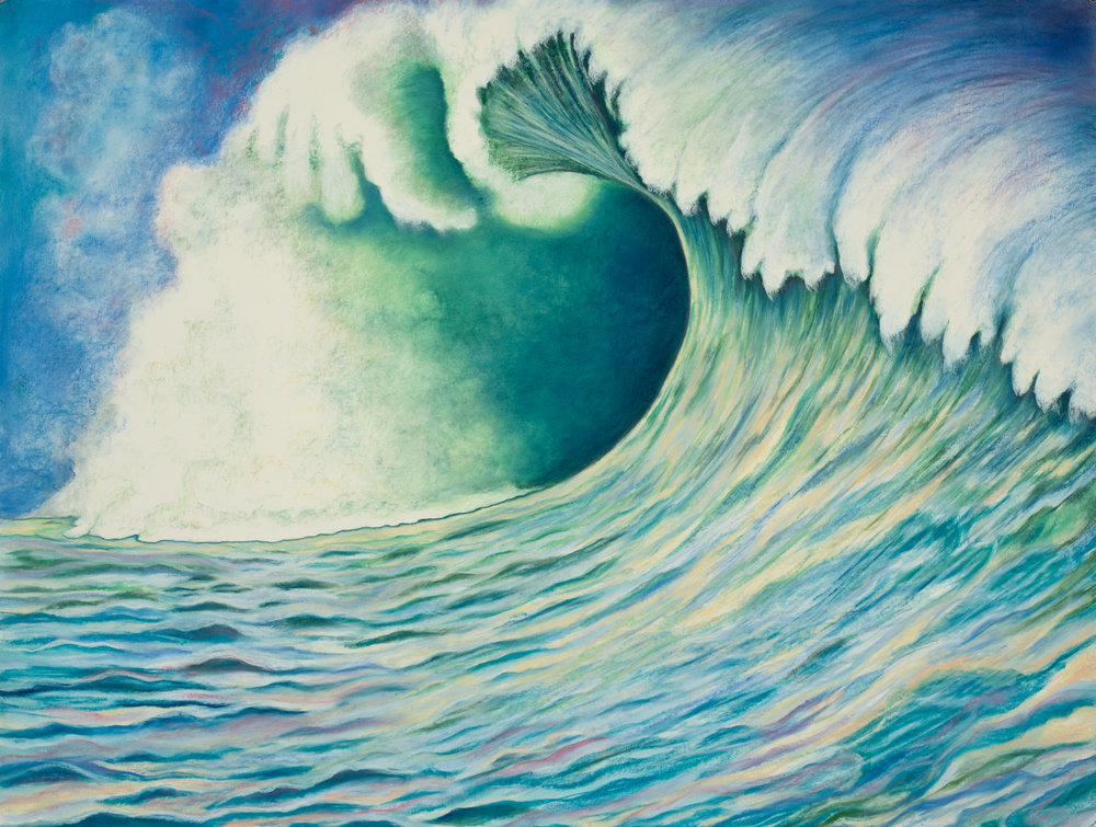 "Aquatic Energy #8 Pastel, 38"" X 50"""