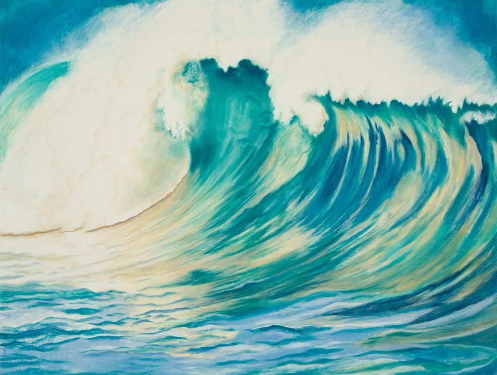 "Aquatic Energy #9 Pastel, 38"" X 50"""