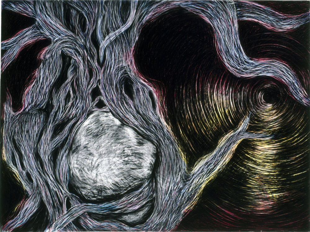 Into The World Pastel and Charcoal on paper, 84 x 224 inches