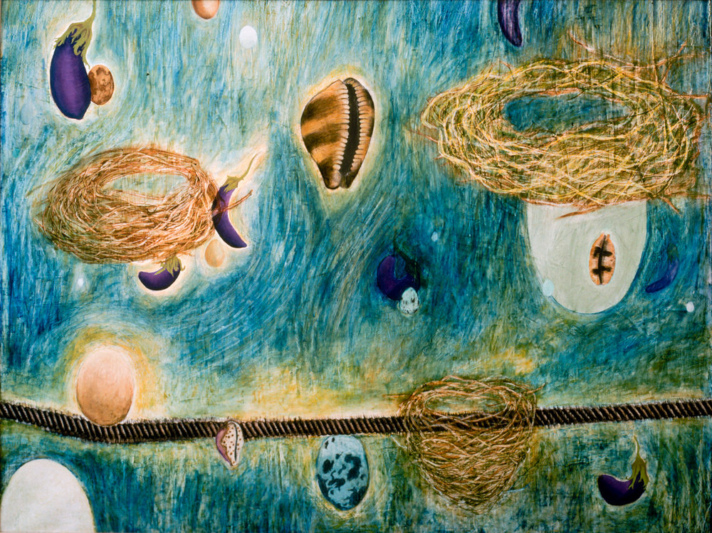 Ripple Effect ( SOLD ) Mixed media on canvas, 55 x 72 inches